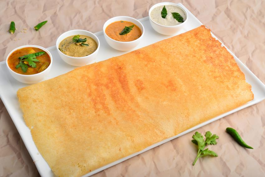 Kids' Special Dosa with Butter Chicken